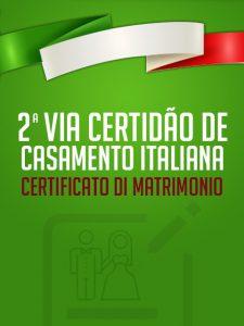 2ª Via Certidão de Casamento Italiana