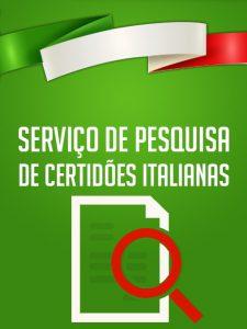 Serviço de Pesquisa de Certidão Italiana