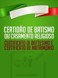 2ª Via Certidão Religiosa Italiana