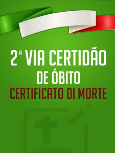 2ª Via Certidão de Óbito Italiana